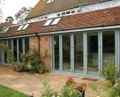 Hallmark-Garden Room with Aluminium-bifold doors external closed_Green