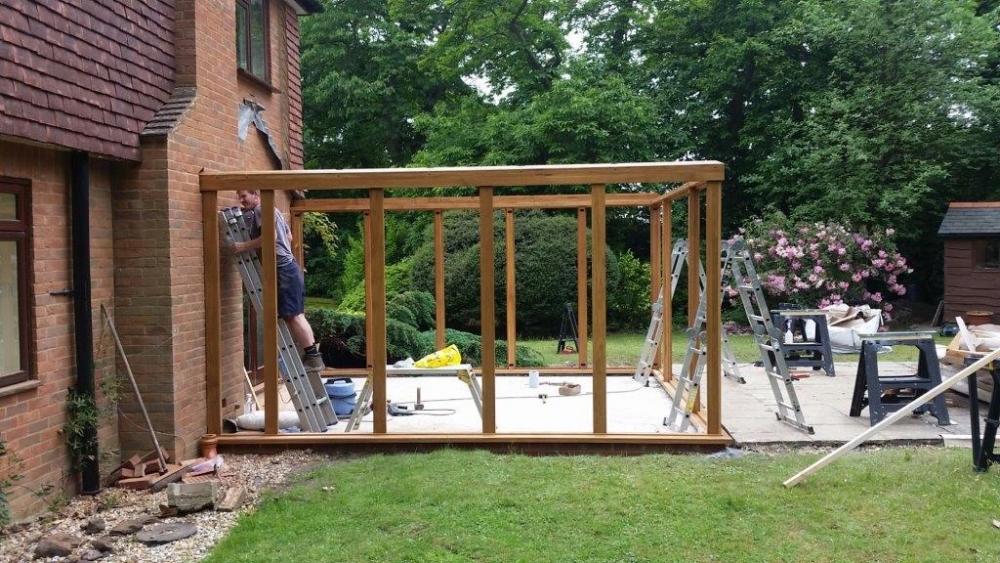 Austin-Contemporary-Oak-Conservatory-During-Construction-Farnham-Hampshire (3)