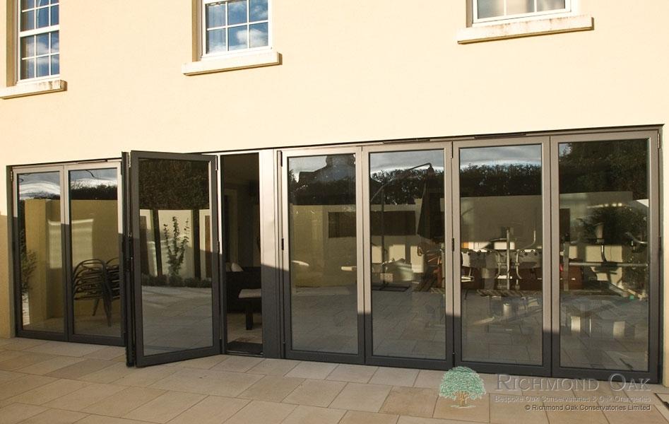 Hallmark-Aluminium-bifold doors external open_Anthracite