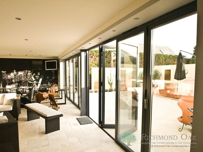 Hallmark-Aluminium-bifold doors internal open_Anthracite