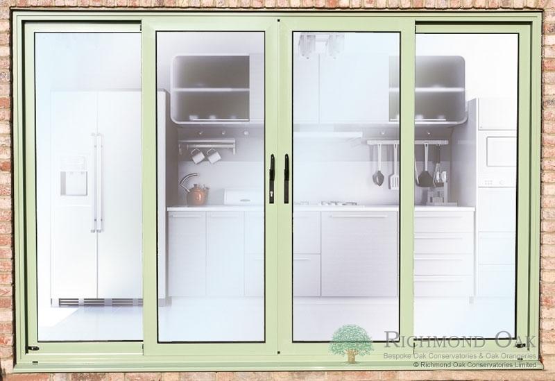 Hallmark-Aluminium-sliding Patio doors in chartwell green colour