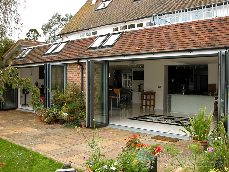 Hallmark-Garden Room with Aluminium-bifold doors external open_Green