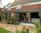 Hallmark-Garden Room with Aluminium-bifold doors external open_Green