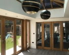 Bespoke seasoned oak orangery in Hertfordshire